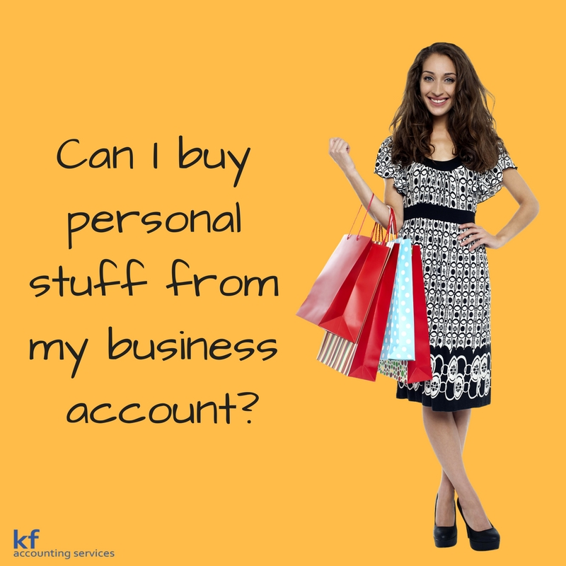 Can I buy personal stuff from my business account?